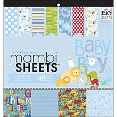 "Mambi Specialty Cardstock 48 Sheets of ""Oh Baby Boy"""