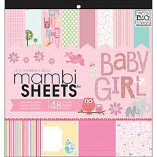 "Mambi Specialty Cardstock Sheets of ""Baby Girl Animals"""
