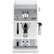 Manual Espresso Machine and Cappuccino Maker in White