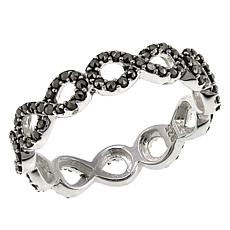 Marcasite Sterling Silver Infinity Symbol Ring