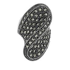 Marcasite Sterling Silver Wavy Statement Ring