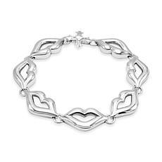 Margo Manhattan Bisou Bisou Sterling Silver Lip Bracelet