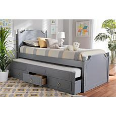 Mariana Twin Size 3-Drawer Storage Bed with Pull-Out Trundle Bed