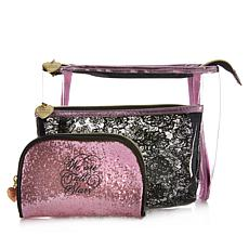 Marilyn Monroe Glitter and Lace Nested Set of 3 Cosmetic Bags