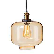 Marion Colored Glass Pendant Lamp - Amber