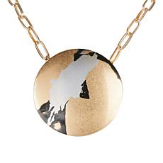"""MarlaWynne 24"""" Abstract Paint-Design Drop Necklace"""