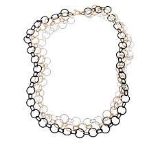"MarlaWynne 47-1/8"" Matte Rolo-Link Chain Necklace"