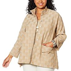 MarlaWynne Basket Weave Topper with Patch Pocket