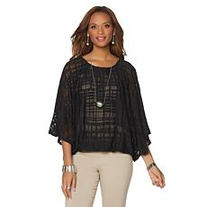 MarlaWynne Burnout Blouson Top
