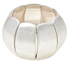 "MarlaWynne Concave Bar 7-1/2"" Stretch Station Bracelet"
