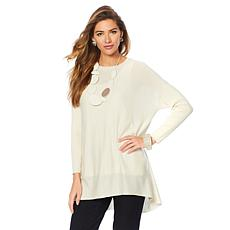 MarlaWynne Crescent Hem Sweater