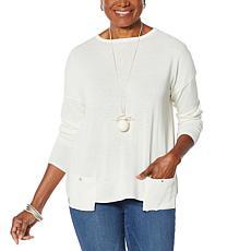 MarlaWynne Drop Pocket Boat-Neck Sweater