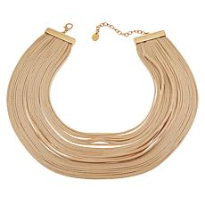 "MarlaWynne Faux Leather Multi-Strand 18"" Necklace"