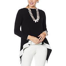 MarlaWynne Fine Gauge Colorblocked Pullover Sweater