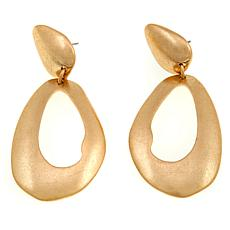 MarlaWynne Freeform Oval Cutout Drop Earrings