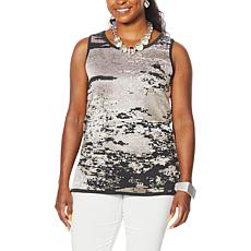 MarlaWynne Jacquard Sweater Knit Tank