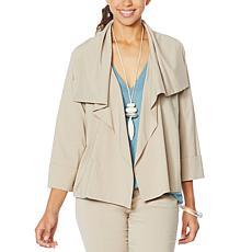 MarlaWynne Kimono Sleeve Bengaline Jacket