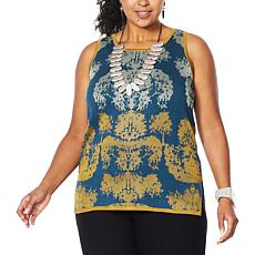 MarlaWynne Matte and Shine Jacquard Tank