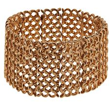 "MarlaWynne Mesh Chain-Link Wide 6-3/4"" Stretch Bracelet"