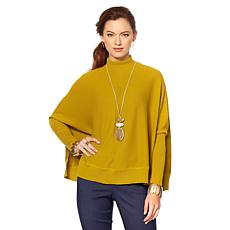 MarlaWynne Mock Neck Knit Poncho