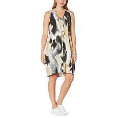 MarlaWynne Print Sleeveless Lantern Dress