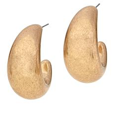 MarlaWynne Puffy Resin Metallic Hoop Earrings