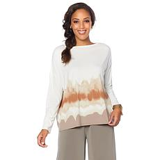 MarlaWynne Shibori Print Knit Box Top