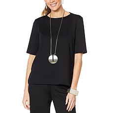 MarlaWynne Short Sleeve Ponte Top