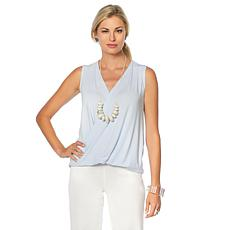 MarlaWynne Sleeveless Twist Front Top