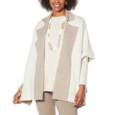MarlaWynne SoftKNIT Poncho Jacket with Pockets