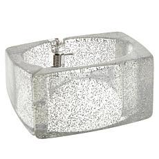 MarlaWynne Speckled Square Hinged Bangle Bracelet