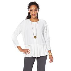 MarlaWynne Stretch Crepe Shirt