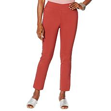 MarlaWynne Stretch Twill FLATTERfit Pant with Slit