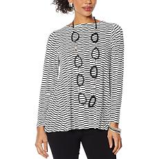 MarlaWynne Striped Boat-Neck Top
