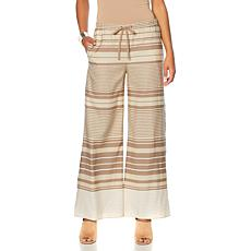 MarlaWynne Striped Drawstring Wide-Leg Pant