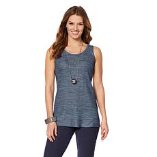 MarlaWynne Sweater-Knit Tank with Side Slits