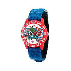 Marvel Avengers Kid's Time-Teacher Red Watch with Blue Strap