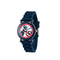 Marvel Captain America Kid's Time-Teacher Navy Strap Bracelet Watch