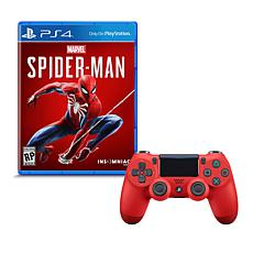 """Marvel Spider-Man"" Game for PS4 with Dualshock Wireless Controller"