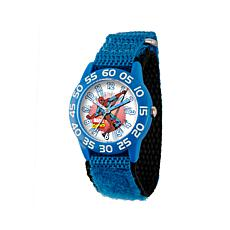 Marvel Spider Man Kid's Time-Teacher Watch with Blue Strap