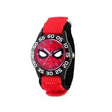 Marvel Spider Man Kid's Time-Teacher Watch with Red Strap
