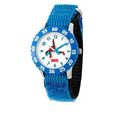 Marvel Spider-Man Kid's Time-Teacher Watch with Rotating Bezel - Blue