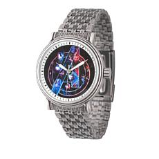 Marvel's Avengers Black Dial Stainless Steel Bracelet Watch