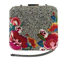 Mary Frances Handcrafted Beaded Bordeaux Bag