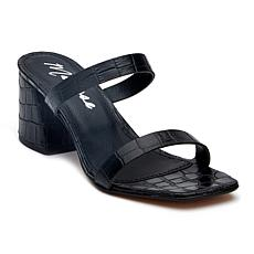 Matisse Madrid Croco-Embossed Leather Block-Heel Sandal