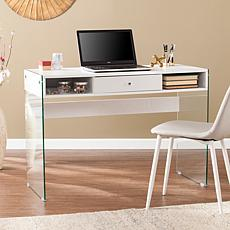 Mattie Contemporary Writing Desk with Glass Legs