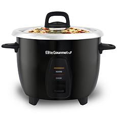Maxi-Matic Elite Gourmet 10-Cup Rice Cooker w/Steam Tray & Inner Pot