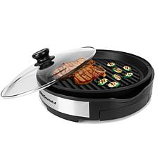 "Maxi-Matic Elite Gourmet 12"" Deluxe Indoor Grill w/Tempered Glass Lid"