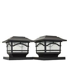 Maxsa Post Cap and Deck Railing Lights 2-pack