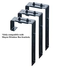 Mayne Adjustable Deck Rail Bracket 3-pack